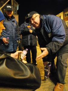Isle of Wight Street Pastors giving out water on the streets of Newport
