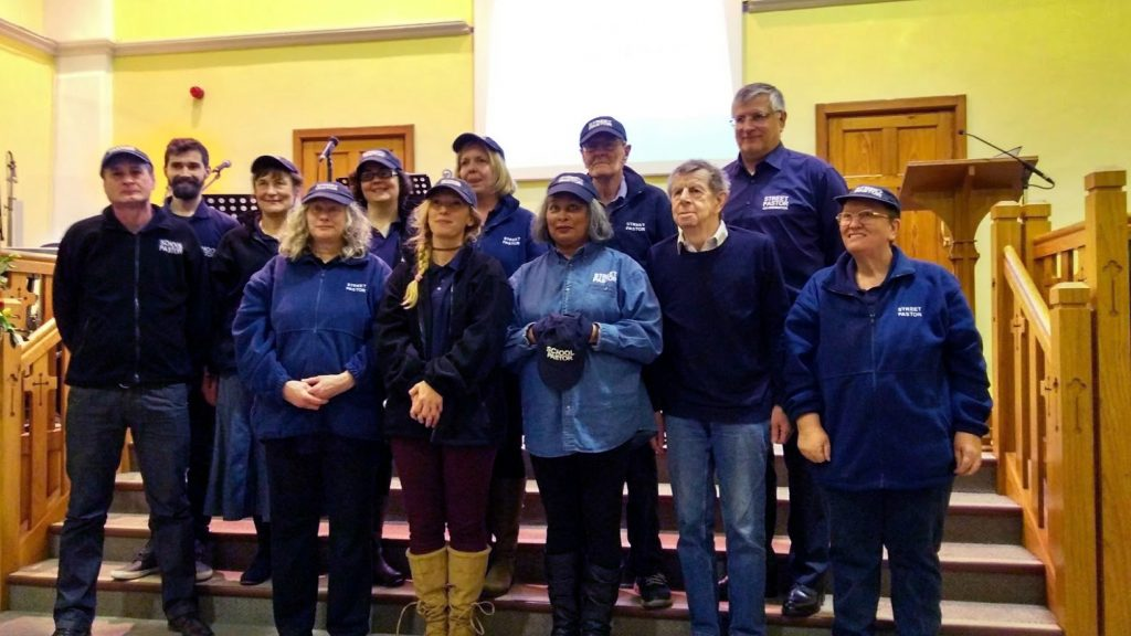 New volunteer Street Pastors, School Pastors and Prayer Pastors being commissioned